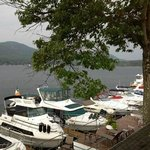 beautiful view of Lake George from outdoor bar area