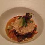 Masago Crusted Scallop with Coconut Curry Broth