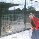 Me, in 2002, with my tiger friend at T.C.