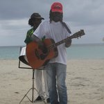 Local musicians on the beach