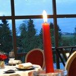 vista da vila medieval do jantar