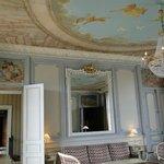 salão interno no hotel