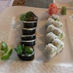 Cilantro Roll and California Roll with Jalapeno