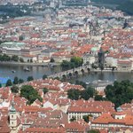 View of Charles Bridge from Petrin Tower
