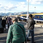 Leaving the Rocky Mountaineer at Jasper