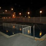 Pool at night, from patio in front of Room 101