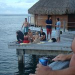 some of the people that would camp out on the dock adjacent to our unit #418