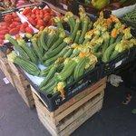 Zucchini at market