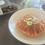 Olives and lemon bread
