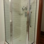 Tiny torture chamber shower stall