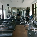 Resort Gym in the hill above the beach. Well equipped, strapped for space though