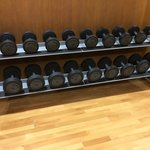 The dumbbell rack, they go up to 24kg
