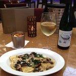 Fine Riesling Wine & Ravioli