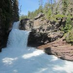 St. Mary Falls is a quick drive from Rising Sun Motor Inn