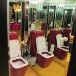 Red snake skin toilets