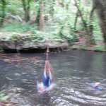 oops...video shot of grace rope swinging into water