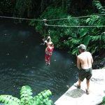 5yr old Azryn t-baring way above the jungle pool