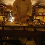 Chef preparing the tatar.