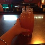 One of the mason jar drinks