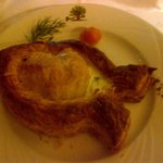 Seabass in Puff Pastry with Dill Cream Sauce
