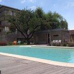 piscina e la sauna esterna