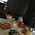 Room service and breakfast, quick and good food. Although the breakfast buffet was much better.