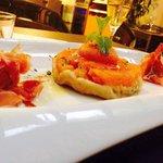 Tatin de tomates du Pays, mozzarella Di Buffala et son jambon serrano 15 mois d'affinage