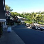 Main shopping strip on the island where there are cafes, some 5* restaurants and closer to the Y