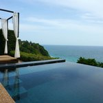 Private infinity plunge pool in our villa