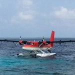 Seaplane transfer to the hotel
