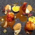 crevettes oeufs meurette brandade