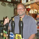 Allen, the landlord - always happy to serve you a pint!