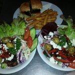 Salads and burgers