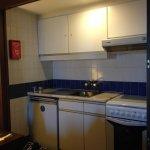 Kitchenette inside room 522