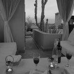 diner aux chandelles sur la terrasse