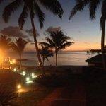 Sunset at waterfront restaurant at Sinalei