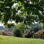 vue du jardin autours de la maison d'hôtes