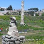 restos del lugar donde estuvo el templo de Artemisa