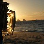 tramonto da ns ombrellone spiaggia nord