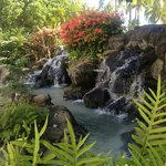 Langs Waikiki Beach er der små vandfald.