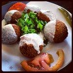 Yummy falafel and great presentation