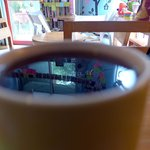 Coffee Reflection literal and figurative
