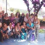 Sulla terrazza di Casa Rosa per immortalare la nostra vacanza!!!