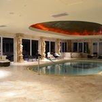 The indoor swimming pool (and spa & sauna)