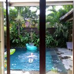 Pool view from master bedroom 3 bed Villa