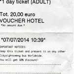 Copie du ticket de voyage