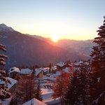 vue du Tyrol a la Rosière 1850m, dernière station ensoleillée