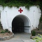 The entrance to Jersey War Tunnels which used to be a hospital