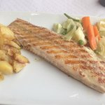 Grilled Sole with mixed vegetables & potatoes - delicious