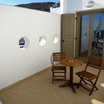 The private veranda of the Junior Suite Sea View